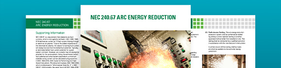 NEC 240.67 arc flash reduction technical paper