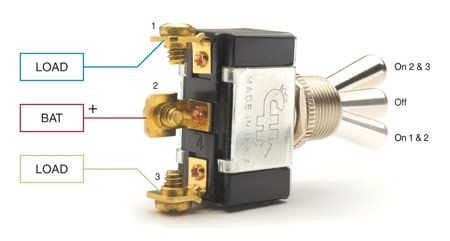 SPDT On-Off-On Only one of the loads can be energized at a time.  sc 1 st  Littelfuse : dpdt toggle switch wiring diagram - yogabreezes.com