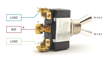 spst, spdt, dpst, and dpdt explained littelfuse Spst Toggle Switch Wiring Diagram spst on off, spdt on on only one of the loads can be energized at a time spst toggle switch wiring diagram