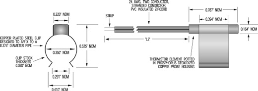 H7183 - Thermistor Assembly Drawing
