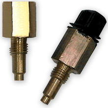 Two U.S. Sensor thermistor probes, before and after environmental testing